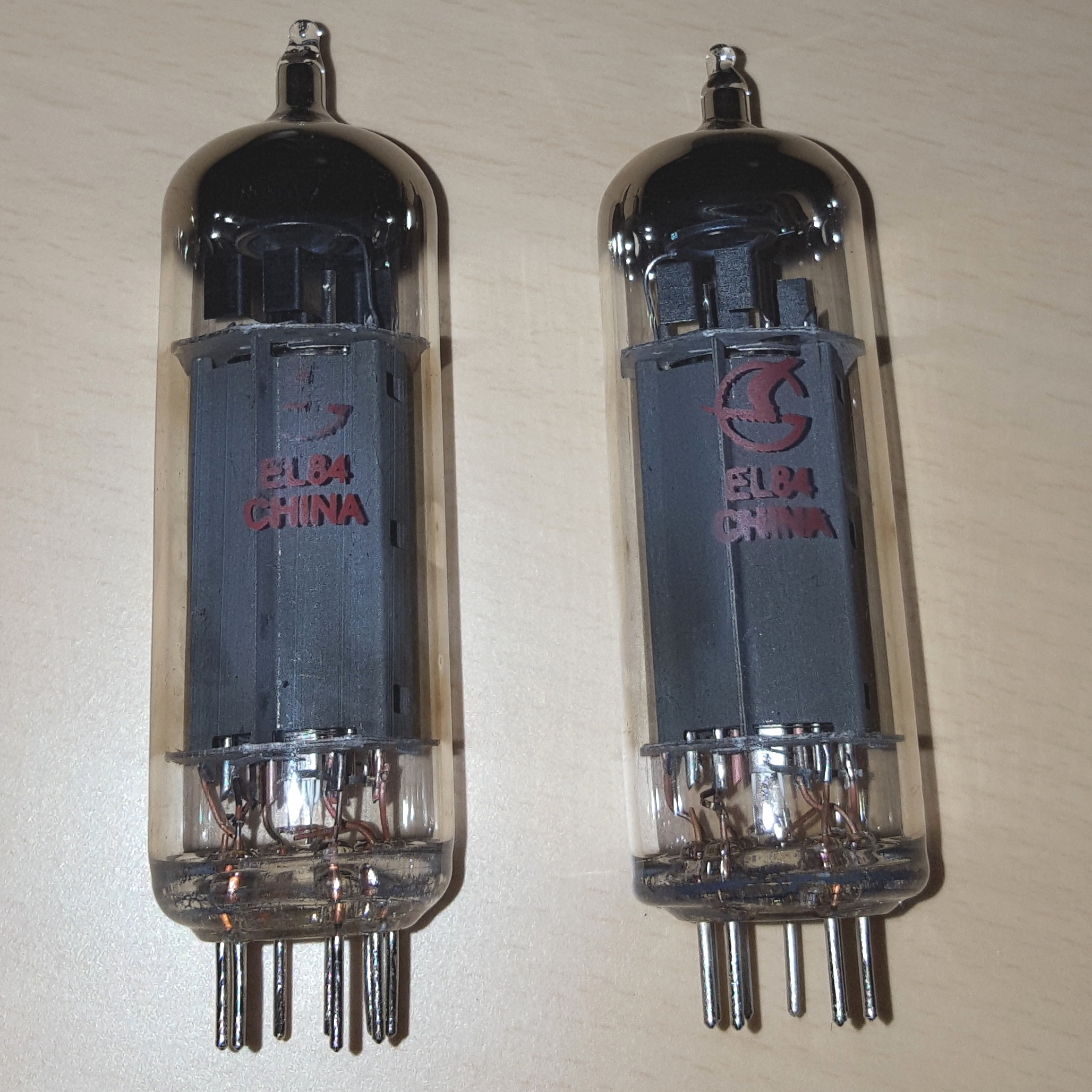 Ruby EL84 Matched Duet Pair Power Tubes