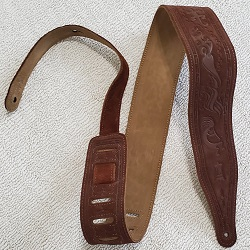 Levy's Brown Leather Guitar Strap