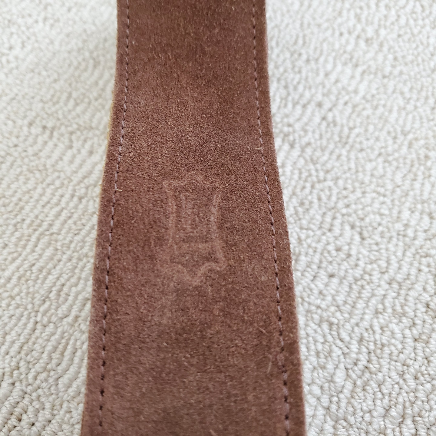 Levy's Brown Suede Leather Guitar Strap